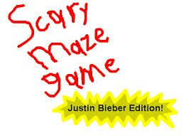 Scary Maze Game Justin Bieber